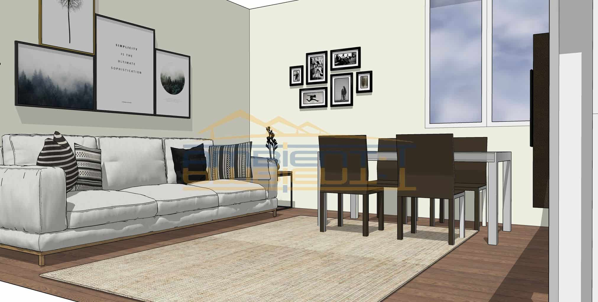 Merate - Appartamento di tre locali con balconi. Box singolo
